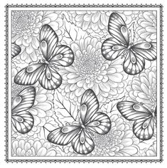 Coloring Pictures Of Flowers and butterflies Inspirational Garden Coloring Pages Nature Coloring Pages Coloring Pages Nature, Garden Coloring Pages, Printable Flower Coloring Pages, Pattern Coloring Pages, Printable Adult Coloring Pages, Animal Coloring Pages, Mandala Coloring, Coloring Pages For Kids, Coloring Books