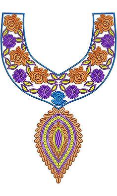 2014 Wellington Style   Simple Neck Yoke Gala Embroidery Design