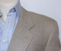 Burberrys Men's Houndstooth Sport Coat Jacket Blazer Size 44 Made in Usa #Burberrys #TwoButton