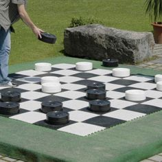 Kettler 218714 Large Checker Pieces  4 in x 10 in