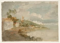Joseph Mallord William Turner 'Picturesque Composition with Distant View of Blois', c.1796