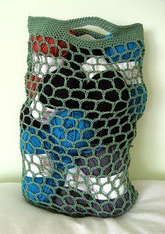 Ravelry: Hexagonal Net Crochet Bag pattern