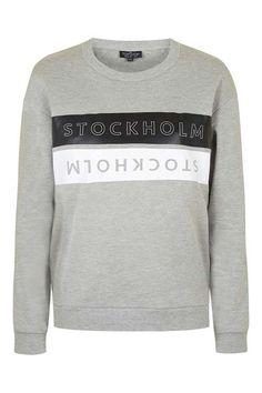TALL Stockholm Motif Sweatshirt - Topshop
