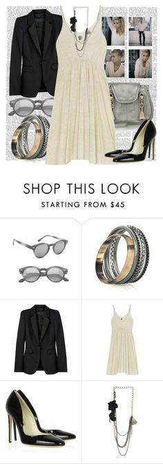 """6.15.10"" by casieelaine ❤ liked on Polyvore featuring American Apparel, Lee Angel Jewelry, Burberry, See by Chloé, Zoe Tee's, Rupert Sanderson and Marquis & Camus"