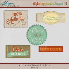 Authentic word art freebie from Meagan's Creations