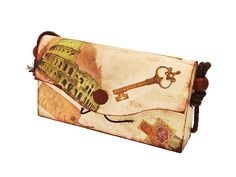 Wooden Bag Ornament  ROMAN HOLIDAYS BAG for keep your by Biberta, €30.00