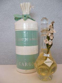 Ancien flacon de Caron «Le Muguet du Bonheur »