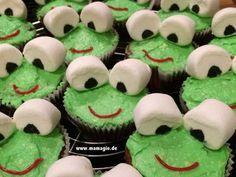 Frosch-Muffins mit Marshmallows