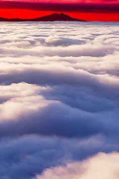 ✿ڿڰۣ In the Clouds - Mt.Tsukuba, Japan    #nature #photography #clouds