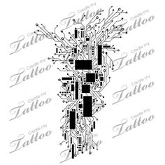 Marketplace Tattoo Abstract Circuitry Computer/Cyber Tattoo #12664 | CreateMyTattoo.com