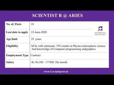 Scientists @ Aryabhatta Observational Science Research Institute Last Date, Research Institute, Job Posting, Government Jobs, Computer Programming, Knowledge, How To Apply, Science, Education