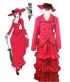 Black Butler Kuroshitsuji Madam Red Cosplay Costume