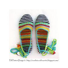 Ravelry: HAPPY SCRAP-SHOES - Basic Slipper Crochet Pattern pattern by Ingunn Santini