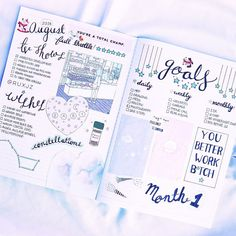milkcandie — My August bullet journals ❀ + instagram +