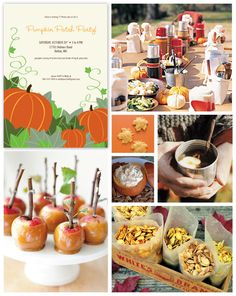 Fall Pumpkin Patch Party Inspiration Board- love the caramel apples, seeds and dip in a pumpkin Baby Girl First Birthday, Fall Birthday, Bday Girl, Halloween Birthday, Boy Birthday Parties, Birthday Ideas, Pumpkin Patch Birthday, Pumpkin Patch Party, Pumpkin Carving Party
