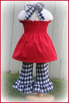 Plaid Nautical 4th of July outfit