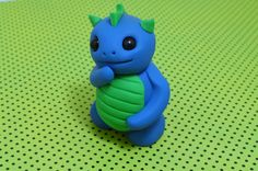 Squirt the Baby Water Dragon - Cute Polymer Clay Monster Figures. $13.50, via Etsy.