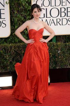 Zooey Deschanel Strapless Dress - Zooey Deschanel Looks - StyleBistro