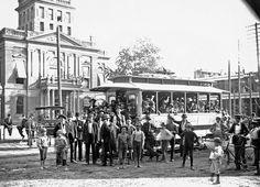The New Trolley in Norwalk, Ohio c1885-1905