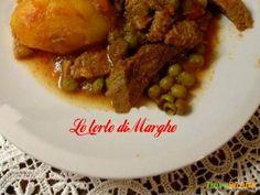 Spezzatino di vitello con patate e piselli  #ricette #food #recipes