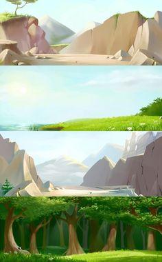 2011   156 фотографий Environment Painting, Environment Concept, Environment Design, Game Environment, Cartoon Background, Game Background, Animation Background, Landscape Concept, Fantasy Landscape