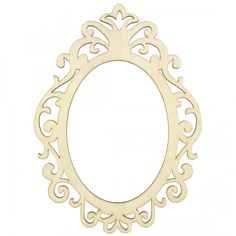 "8.5"" Wooden Cut Filagree Oval Frame: Natural"