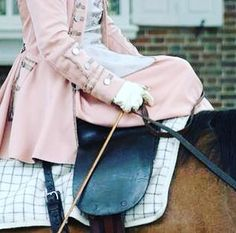 gorgeous pink side saddle outfit ride in style
