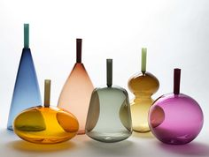 A Pursuit in Watercolour – Transparent Glass Forms by Lynn Read Source by uwehuxholl Blown Glass Art, Art Of Glass, Stained Glass Art, Mosaic Glass, Bottles And Jars, Glass Bottles, Perfume Bottles, L'art Du Vitrail, Glass Art Design