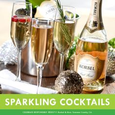 Top off any of your favorite cocktails with KORBEL California Champagne for an even brighter experience! For holiday cocktail recipe ideas, click here: https://www.korbel.com/recipes/