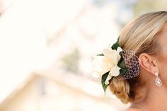 gardenia hair flower...this looks so simple and romantic perfect for a small/outdoor wedding