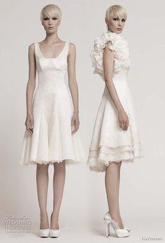 gattinoni spring short wedding dresses 2011