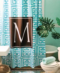 Custom Personalized Shower Curtain from The Cute Kiwi