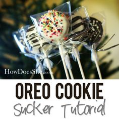 Dipped Oreo Cookie Sucker Tutorial | How Does She...