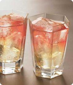 the frenchy drink: 1 1/2 oz. pear vodka, 3 oz. pineapple juice, 1 oz. cranberry juice