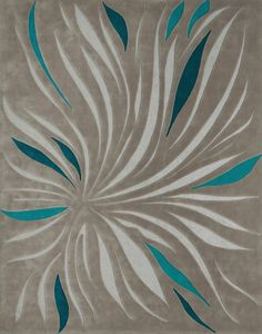 The Rug Market Closeout Tillandsia 44385 Gray And Teal Area Rug | Bold Rugs  | Teal Rugs | Pinterest | Teal Area Rug, Teal And Bald Hairstyles