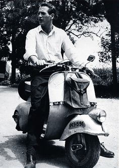 Two things I love dearly- Paul Newman and scooters