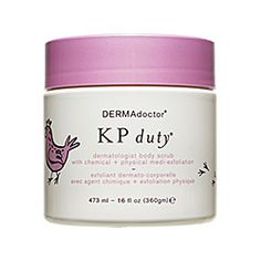 Dermadoctor - KP Duty Body Scrub  This stuff WORKS!  If you have body skin irritations, breakouts or ingrown hairs this stuff will clear it up in about 2-3 weeks so that it never plagues you again! Rub it on before hopping in the shower and let it sit for 1-2 minutes.  Your reward.. soft, beautiful, blemish free skin.