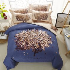 a53660e43549 Svetanya Tree Printed Sheet Pillowcases & Duvet cover Sets 100% Sanding Cotton  Queen Full King Size Bedding Set-in Bedding Sets from Home & Garden on ...