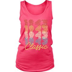Women's 75th Birthday Gift Vintage 1943 Retro Classic Tank Top