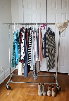 Being Content with My Closet - A Beautiful Mess Wardrobe Organisation, Life Organization, Organizing Life, How To Organize Your Closet, Beautiful Mess, Home And Deco, Wardrobe Rack, Capsule Wardrobe, Capsule Clothing