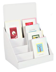 Compact cardboard greeting card display stands 4 tier - counter or table top | Other Cardmaking | Cardmaking & Scrapbooking - Zeppy.io