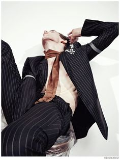Anatol Modzelewski is Too Weird for Pinstripe + Stripe Fashion Editorial from The Greatest image Anatol Modzelewski The Greatest Fashion Editorial 003