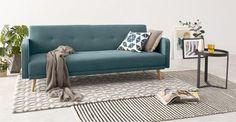 Chou Schlafsofa, Eisblau ► Neues Design für dein Zuhause! Entdecke jetzt Sofas und Sessel in vielen Styles bei MADE.