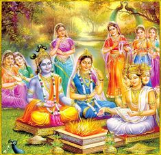 When Lord Vishnu was born as Krishna, Goddess Lakshmi was born as Rukmini. According to traditional accounts, princess Rukmini is believed to have been born on Vaishakh Krishna Leela, Cute Krishna, Jai Shree Krishna, Radha Krishna Love, Krishna Radha, Krishna Flute, Durga, Lord Krishna Images, Lord Krishna