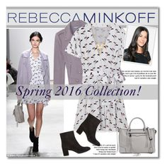 """""""Be the First To Style Rebecca Minkoff's Spring 2016 Collection!"""" by svijetlana ❤ liked on Polyvore featuring Rebecca Minkoff, women's clothing, women, female, woman, misses, juniors, contestentry, seebuywear and rmspring"""