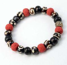 Dark Mens Tribal Bracelet by DysfunctionDesigns on Etsy, £7.00
