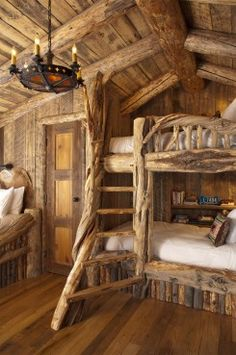 custom-log-bunkbeds