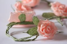 paper flower garland. Can make these using crepe paper!