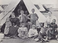 One of many Boer families of high class after arrival at a UK concentration camp. Contemporary History, New York Life, A Day In Life, African History, Military History, Warfare, Wwii, South Africa, Genealogy