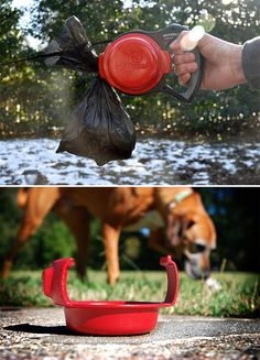 Save 65 on a portable collapsible dog wash bath tub only 3499 you bring yourself a waterbottle on the walk but what about the dog the ruffbowl is a portable water bowl for your dog that snaps on to your retractable solutioingenieria Gallery